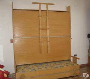 Letto a castello 3 posti in legno massiccio posot class - Sbarra letto ikea ...