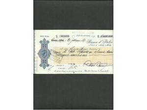 3 vecchi assegni delle colonie italiane