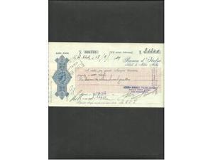 4 assegni delle colonie italiane