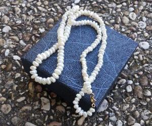 Collana di perle di fiume e chiusura in oro 750