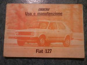 Libretto uso e manutenzione Fiat 127