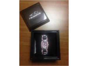 Orologio donna chronotech, bracciale acciaio rosa swarovski