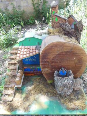 Casa in legno per presepe