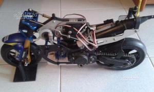 Moto radiocomandata a scoppio funzionante