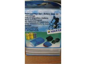 3 SET DI LAMPADINE a batteria per biciclette, nuovi