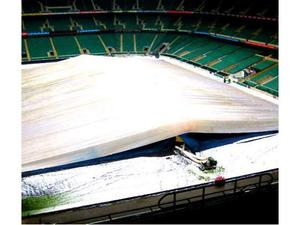 Copertura gonfiabile anti pioggia per campi calcio calcetto