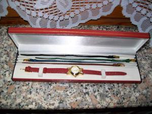 Elegante orologio da donna con cinturini di ricambio