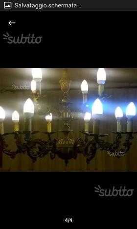 Lampadario 8 4 luci
