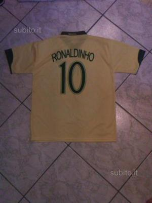 Maglia replica Brasile Ronaldinho taglia xl