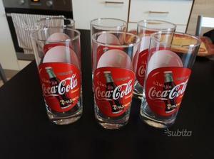 Servizio bicchieri Coca Cola nuovo