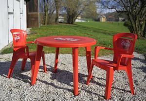 Tavoli e sedie Coca Cola in plastica x