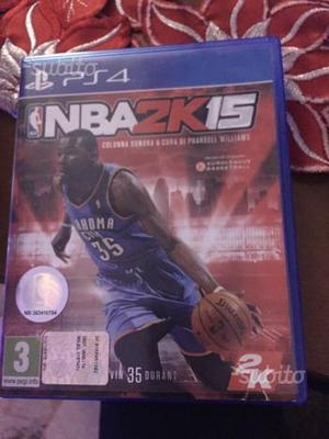 Gioco NBA 2k15 basket per PS4
