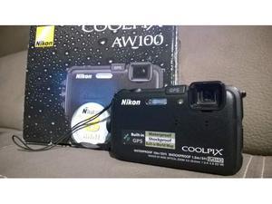 Nikon CoolPix AW100 Nital Con Seconda Batteria Orig.