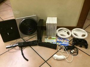 Wii nera + giochi + accessori