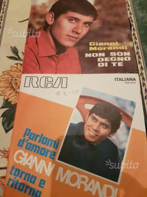 2 dischi 45 giri di Gianni Morandi