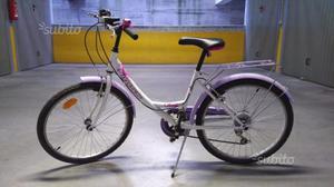 Bici city bike bambina ruote 24 pollici