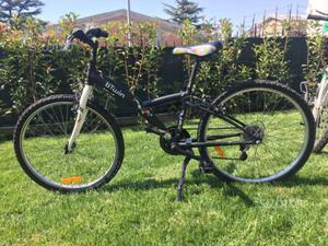 """Bicicletta b'Twin bambina ruote da 24"""" 6 marce"""