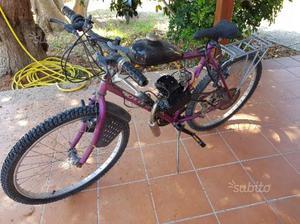 Bicicletta motore a benzina