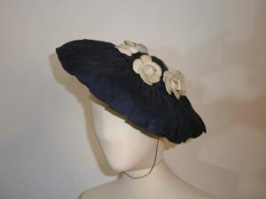 JACQUES FATH? cappello seta con rose anni 50