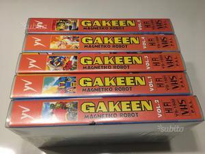 Serie 'Gakeen magnetico robot' Yamato VHS da 1 a 5