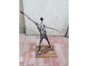 Statua giocatore di pallone elastico - Francesco Girotti