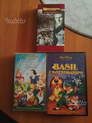 VHS originali Walt Disney: Biancaneve, Basil inves