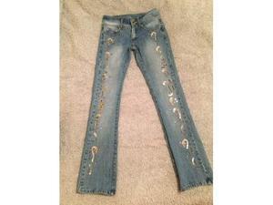 Jeans LIST strass/paillette perfetti
