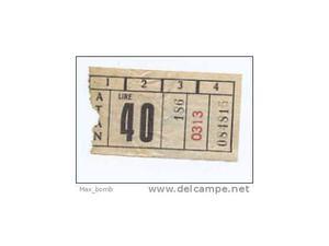 Biglietto autobus atan (napoli?) bus ticket