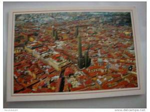 Cartolina, Centro con le torri Asinelli e Garisenda, bologna