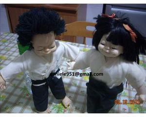 Coppia di Bambole da combattimento kung fucinesi