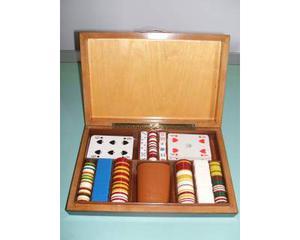 Magnifico set per gioco poker, anni '50