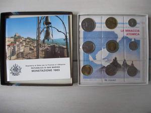 Monete San Marino Serie Annuale Completa 9 Monete Lira