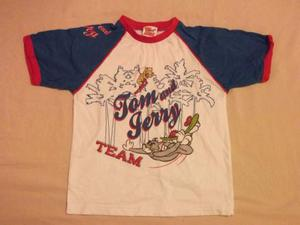 T shirt maglietta 4 anni DISNEY tom & jerry 100% cotone
