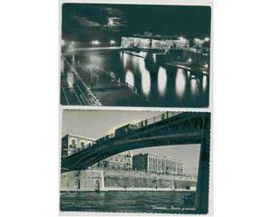 Cartoline Taranto Notturno Castello e Ponte Girevole