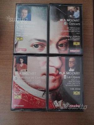 Cassette VHS Mozart collana di cassette