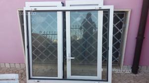 Porta 2 ante in alluminio anodizzato bianco posot class - Dimensioni porta finestra 2 ante ...