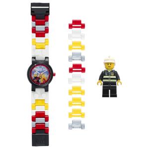 LEGO CiTY Orologio Componibile Pompiere in Plastica