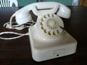Telefono a disco color avorio w49 tavolo / parete 2 in uno