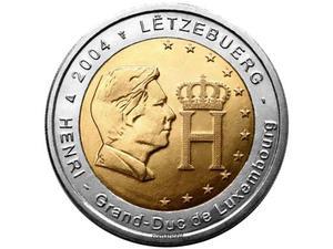 2 euro Lussemburgo -effigie del Granduca Enrico