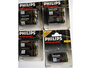 Batterie ricaricabili Philips pile C e quadra nuove