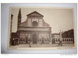 Cartolina,CHIESA DI S. MARIA NOVELLA - FIRENZE, inizio 900