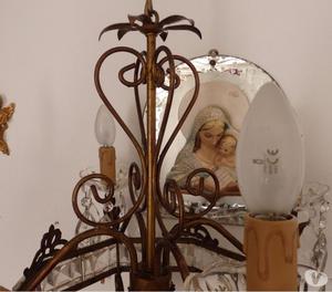 Lampadario antico in ottone