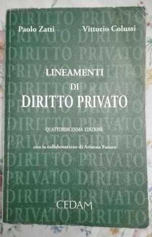 Lineamenti di Diritto Privato - Zatti, Colussi