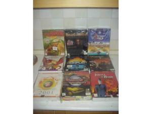 Lotto 9 videogiochi videogames giochi pc cd rom scatole