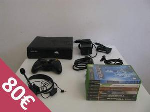 Microsoft Xbox 360 con 250GB, 6 giochi, 1 controller e 1