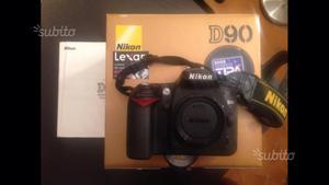 Nikon d90 reflex più borsa Lowepro