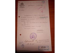 Vari Documenti Originali della 1 e 2 Guerra mondiale