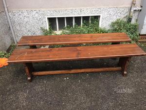 2 panche legno massiccio