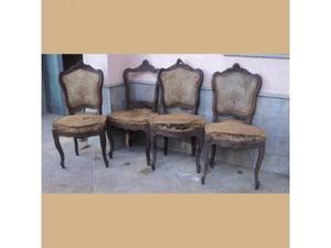 4 sedie luigi filippo in noce