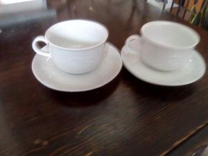Coppia di tazza da colazione Mulino Bianco.